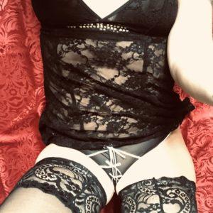 Sexy Black Set, heißer und feuchter Slip