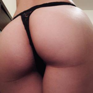 Schwarzer Spitzen String – Sexy Bitch