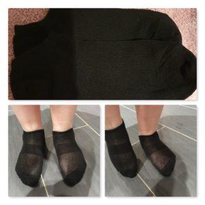 Sneacker Socken in schwarz