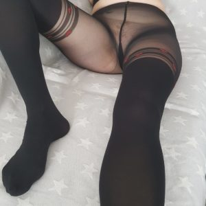 sexy Nylon Strumpfhose ohne Höschen getragen 😋